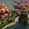 Sakura Island Cherry Tree Map // SPAWN // HUB // LOBBY // HQ AND CUSTOM // WOW // SPRING // FOREST