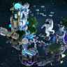 SPACE PORT SKYBLOCK SPAWN - HUGE! - PVP/ ASTRONAUT / GALAXY / EXPLORE / NASA / ROCKET / HQ //